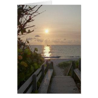 Sunrise Charter Card