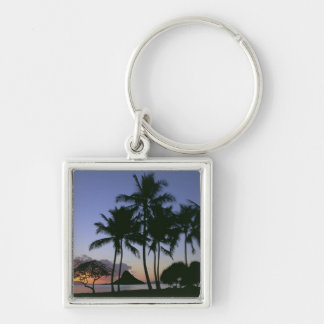 Sunrise Chinamans Hat Kaneohe Bay Kaneohe Oahu Keychain