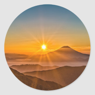 Sunrise Classic Round Sticker