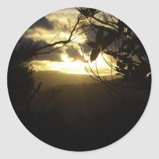 Sunrise Classic Round Sticker