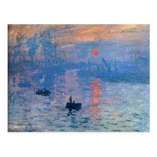 Sunrise - Claude Monet Postcard