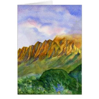Sunrise Cliffs Kauai Hawaii Blank greeting Card