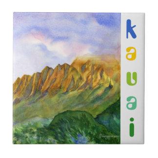 Sunrise Cliffs Kauai Hawaii Tiles