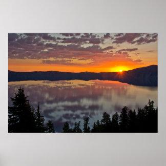 Sunrise, Crater Lake National Park, Oregon, USA Poster