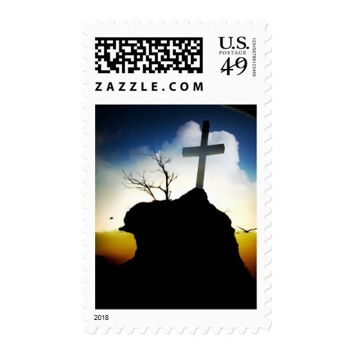 Sunrise Cross Postage Stamp