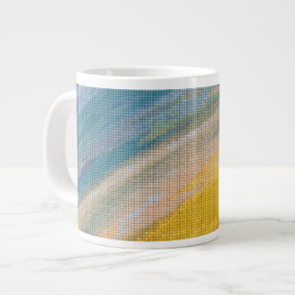 Sunrise Cross Stitch Jumbo Mug