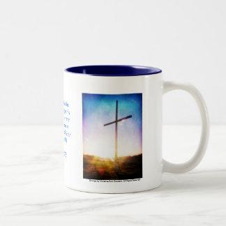 Sunrise Cross Two-Tone Coffee Mug