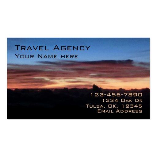 Sunrise customizable travel agency business cards