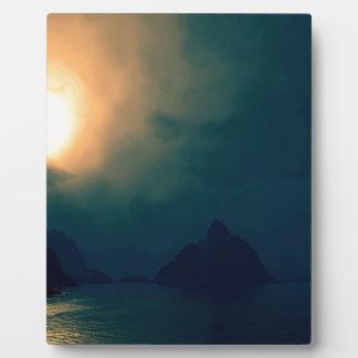 Sunrise Darkness Prevails Light Photo Plaque
