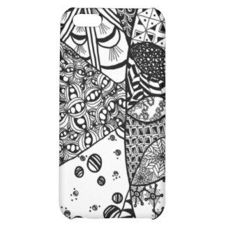 Sunrise Doodle Art iPhone 4 Case