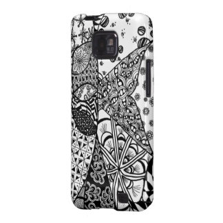 Sunrise Doodle Art Samsung Galaxy S Case Samsung Galaxy S2 Cover