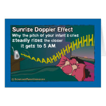 Sunrise Doppler Effect Card