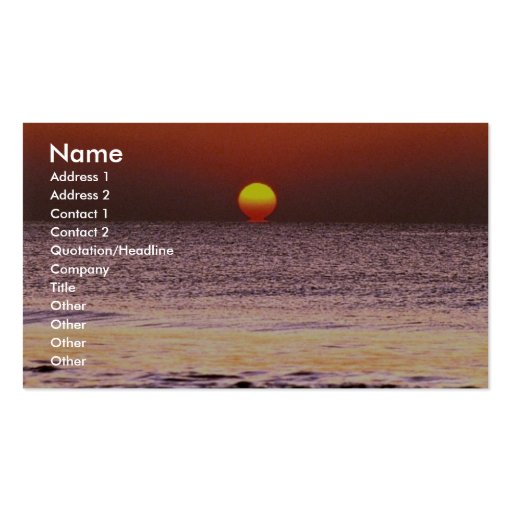Sunrise Double-Sided Standard Business Cards (Pack Of 100)