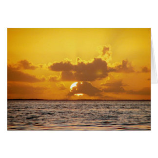 Sunrise, Drowned Cays, Belize Card