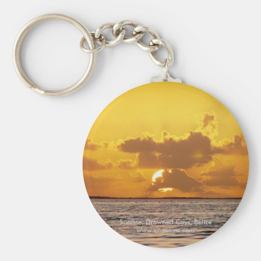 Sunrise, Drowned Cays, Belize Key Chain