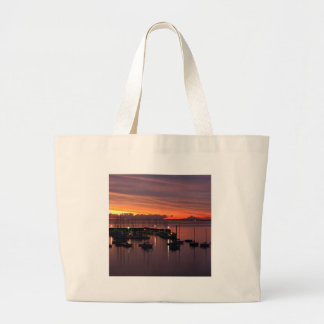 Sunrise Early Morning Harbour Canvas Bags