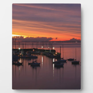Sunrise Early Morning Harbour Display Plaque