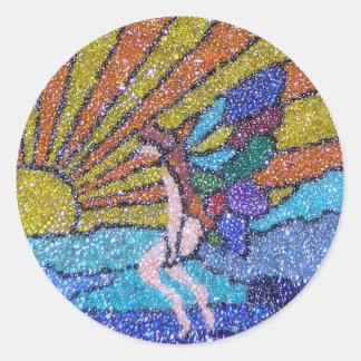 Sunrise Fairy Classic Round Sticker