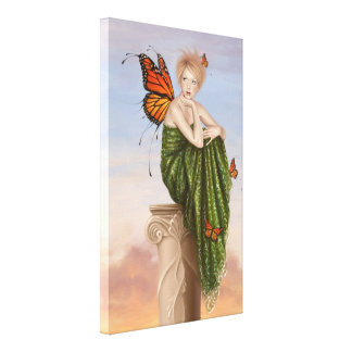 Sunrise Fairy Wrapped Canvas Print