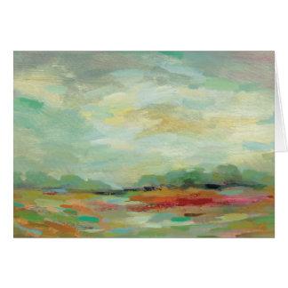 Sunrise Field Abstract Print   Silvia Vassileva Card