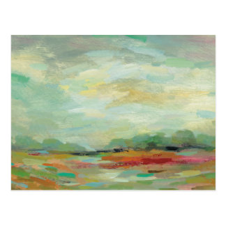 Sunrise Field Abstract Print | Silvia Vassileva Postcard