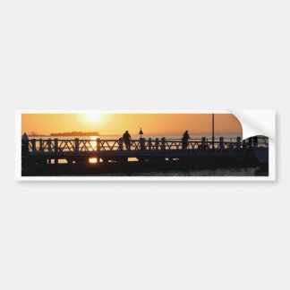 Sunrise Fishing Bumper Sticker