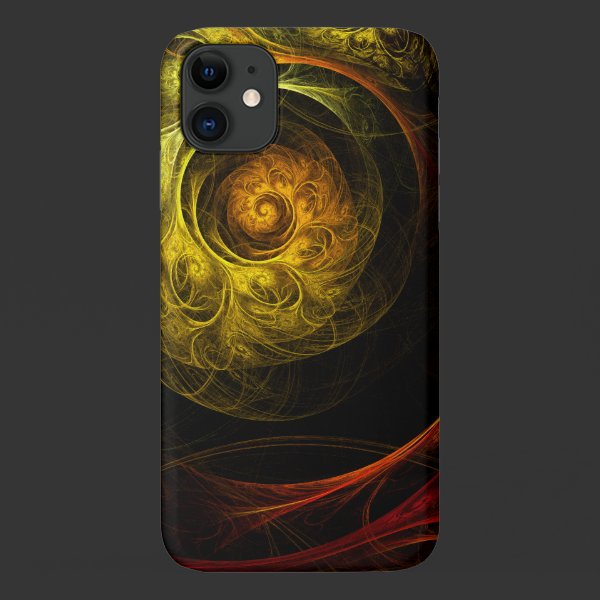 Sunrise Floral Red Abstract Art Case-Mate iPhone Case
