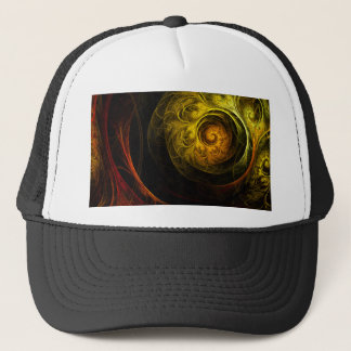 Sunrise Floral Red Abstract Art Hat