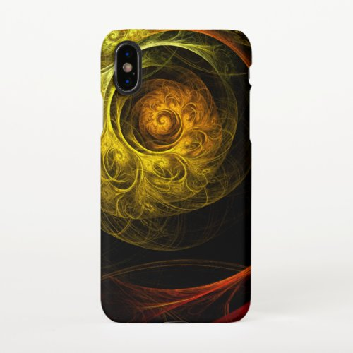 Sunrise Floral Red Abstract Art Matte Phone Case