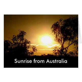 Sunrise from Australia Greeting Card