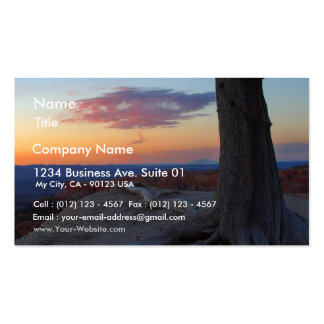 Sunrise From Bryce Rim Double-Sided Standard Business Cards (Pack Of 100)