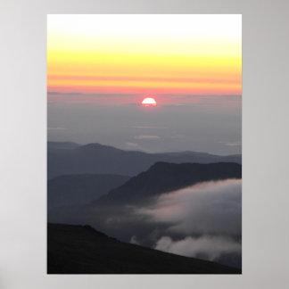 Sunrise from Longs Peak, CO Poster
