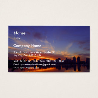 Sunrise From San Diego Bay Business Card