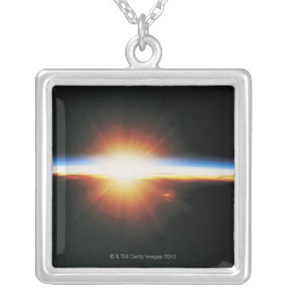 Sunrise from Space 2 Silver Plated Necklace