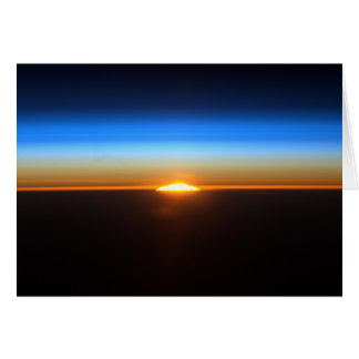 Sunrise From The International Space Station Card
