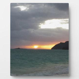 sunrise from Waimanalo Photo Plaques