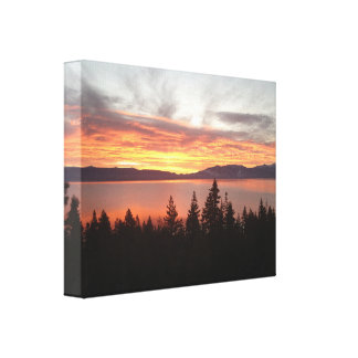 Sunrise from West Shore Lake Tahoe Canvas Print