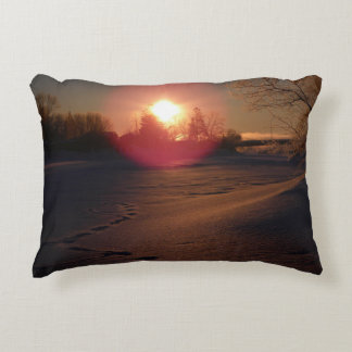 Sunrise Glow Accent Pillow