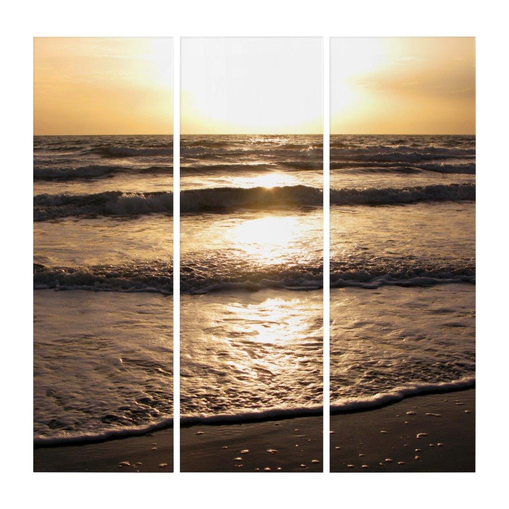 Sunrise Glow Beach Ocean View Photo