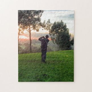 Sunrise Golfer Jigsaw Puzzle