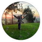 Sunrise Golfer Large Clock