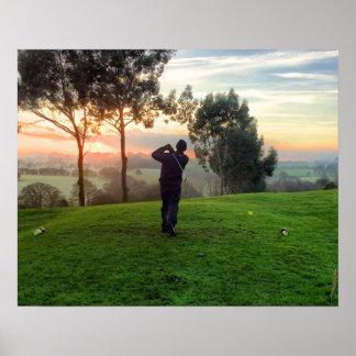 Sunrise Golfer Posters