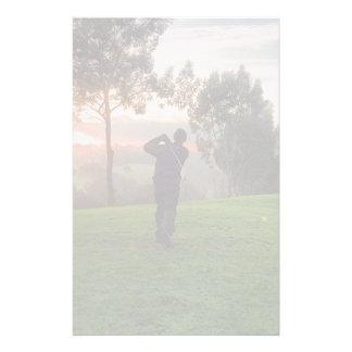 Sunrise Golfer Stationery