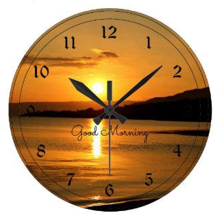 Sunrise - Good Morning Large Clock