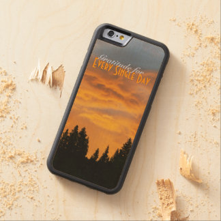 Sunrise Gratitude Carved® Maple iPhone 6 Bumper