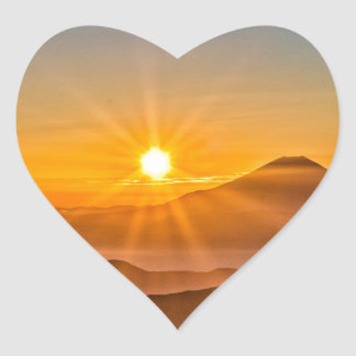 Sunrise Heart Sticker