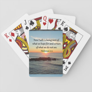 SUNRISE HEBREWS 11:1 PHOTO DESIGN PLAYING CARDS