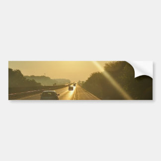 SUNRISE Highway travel cars automobiles driving Bumper Sticker