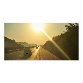 SUNRISE Highway travel cars automobiles driving Card