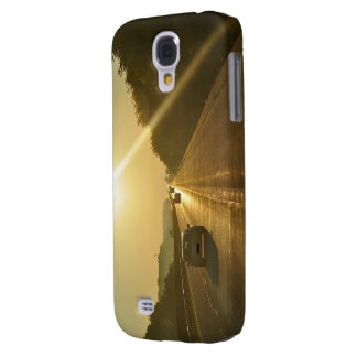 SUNRISE Highway travel cars automobiles driving Samsung Galaxy S4 Covers